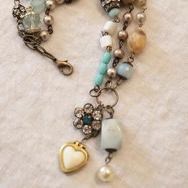 An Affinity for Aqua Bracelet