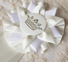 Birthday Girl Rosette {cream}